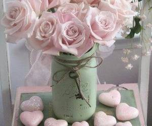 flowers, hearts, and pastel image