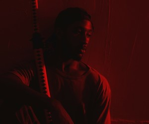 red, samurai, and sword image
