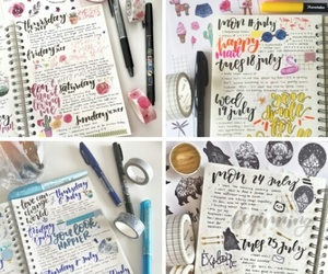 calligraphy, journal, and school image