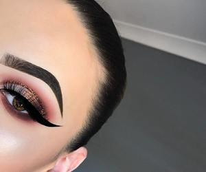 eyebrow, fashion, and make up image