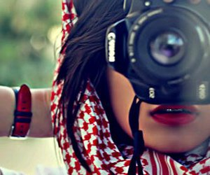 camera and red image