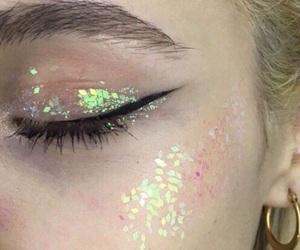 earring, eye, and glitter image