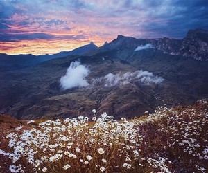 mountains, nature, and skies image