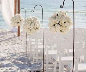 wedding, beach, and decoration image