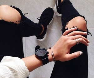 accessories, sneaker, and black image