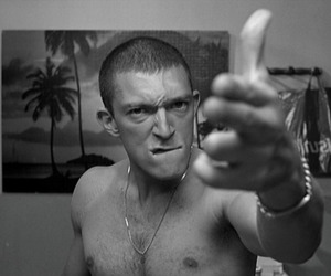 la haine, Vincent Cassel, and black and white image