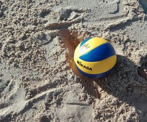 beach, volley, and mikasa image