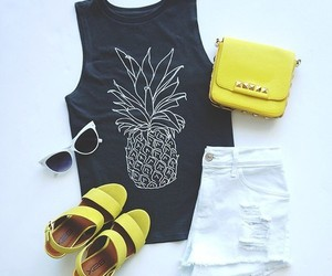 outfit, pineapple, and fashion image