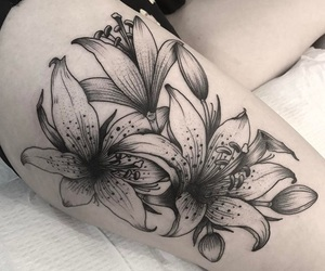 flower, inked, and Tattoos image