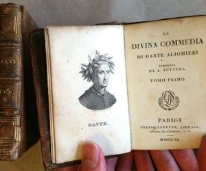 books, dante alighieri, and la divina commedia image