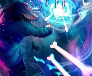 battle, blue, and bones image