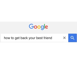 best friend, lost, and bff image