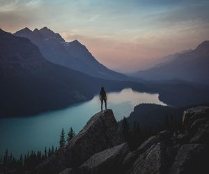 Alberta, outdoors, and Peyto Lake image