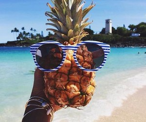 beach, glasses, and landscape image