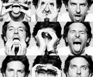 bradley cooper, funny, and black and white image