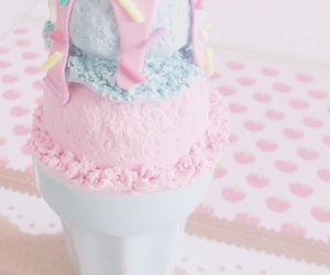 thank you lord for food and pink & blue ice cream image