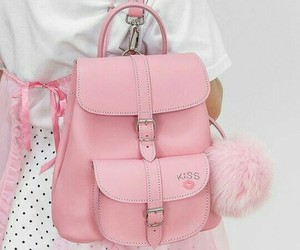 backpack, pink, and grafea backpack image