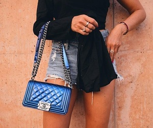 black, blue, and chanel image