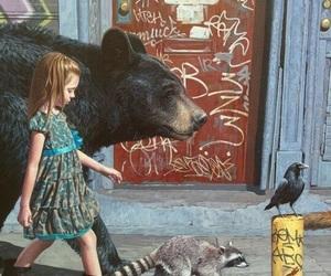 girl, art, and animal image