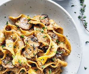 delicious, mushroom, and pasta image