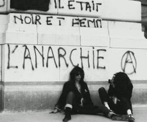 anarchy, black and white, and french image