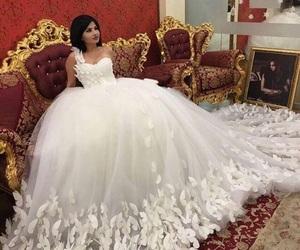 bride, dress, and happy image
