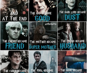 deathly hallows, draco malfoy, and harry potter image