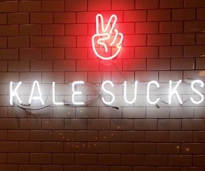 kale, neon, and peace image