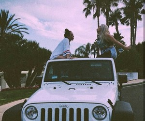 girl, summer, and jeep image