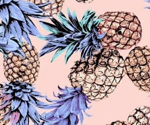blue, pineapple, and pink image