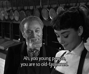 audrey hepburn, quotes, and vintage image