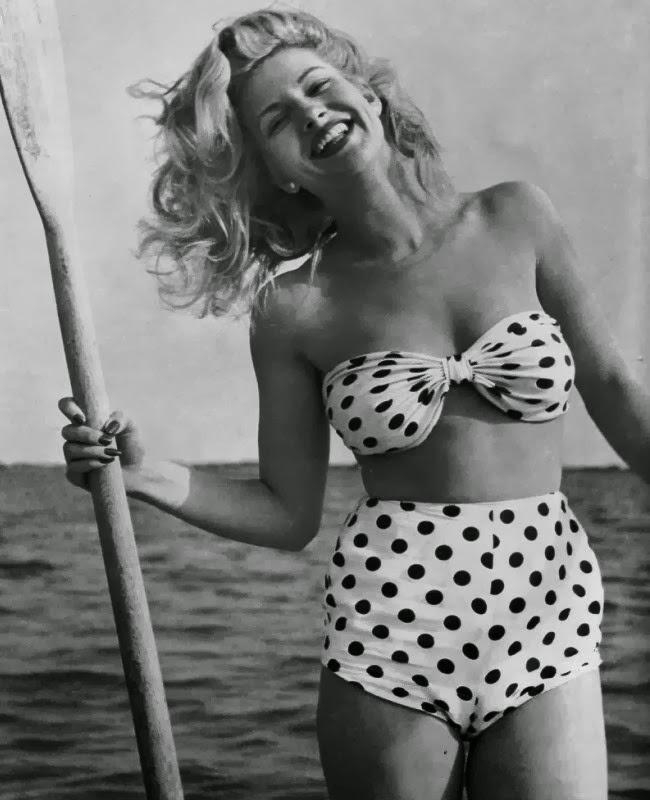 vintage, polka dots, and summer image