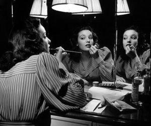 vintage, linda darnell, and lipstick image