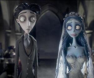 tim burton, corpse bride, and black and white image