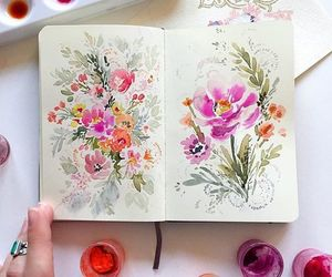 flowers and sketchbook image