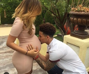 couple, baby, and pregnant image
