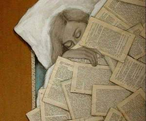 book, drawing, and girl image