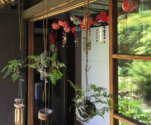 japan, plant, and wind chime image