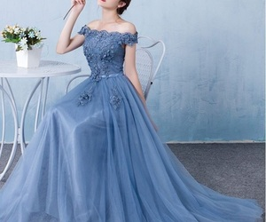 blue, dresses, and girls image