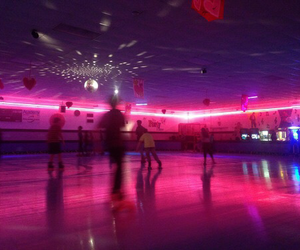 neon, roller skating, and neon pink image