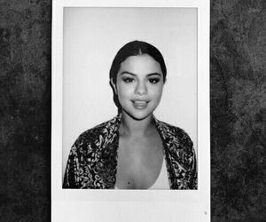 selena gomez, polaroid, and black and white image