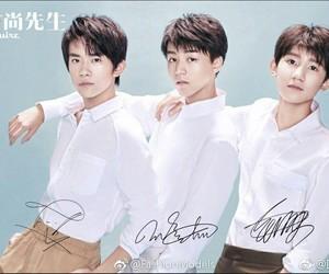 tfboys, wang yuan, and wang jun kai image