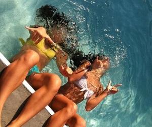 bikini, water, and crazy image