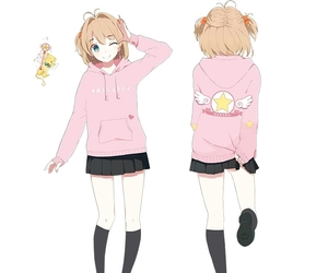 anime, card captor sakura, and jacket image