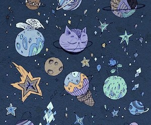 cats, universe, and planets image