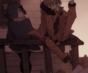 couple, drawing, and kenny mccormick image
