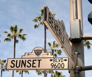 sunset, summer, and california image