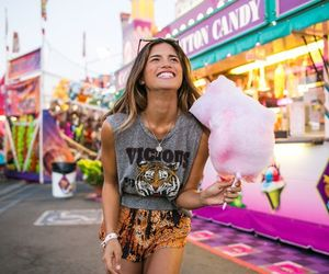 girl, happy, and candy image