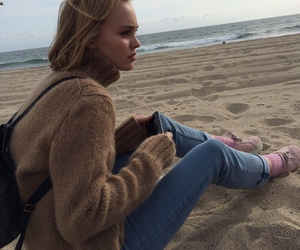 beach, lily rose depp, and grunge image