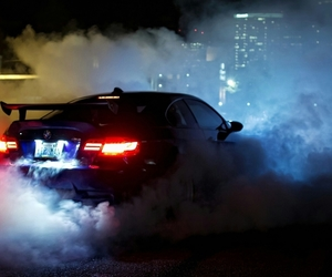 bmw, car, and smoke image